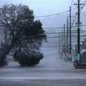A street is flooded as Hurricane Irma passes through Fajardo, Puerto Rico Photo: Jose Jimenez Getty Images